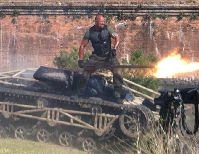 Dwayne Johnson G.I. Joe Die Abrechnung Panzer