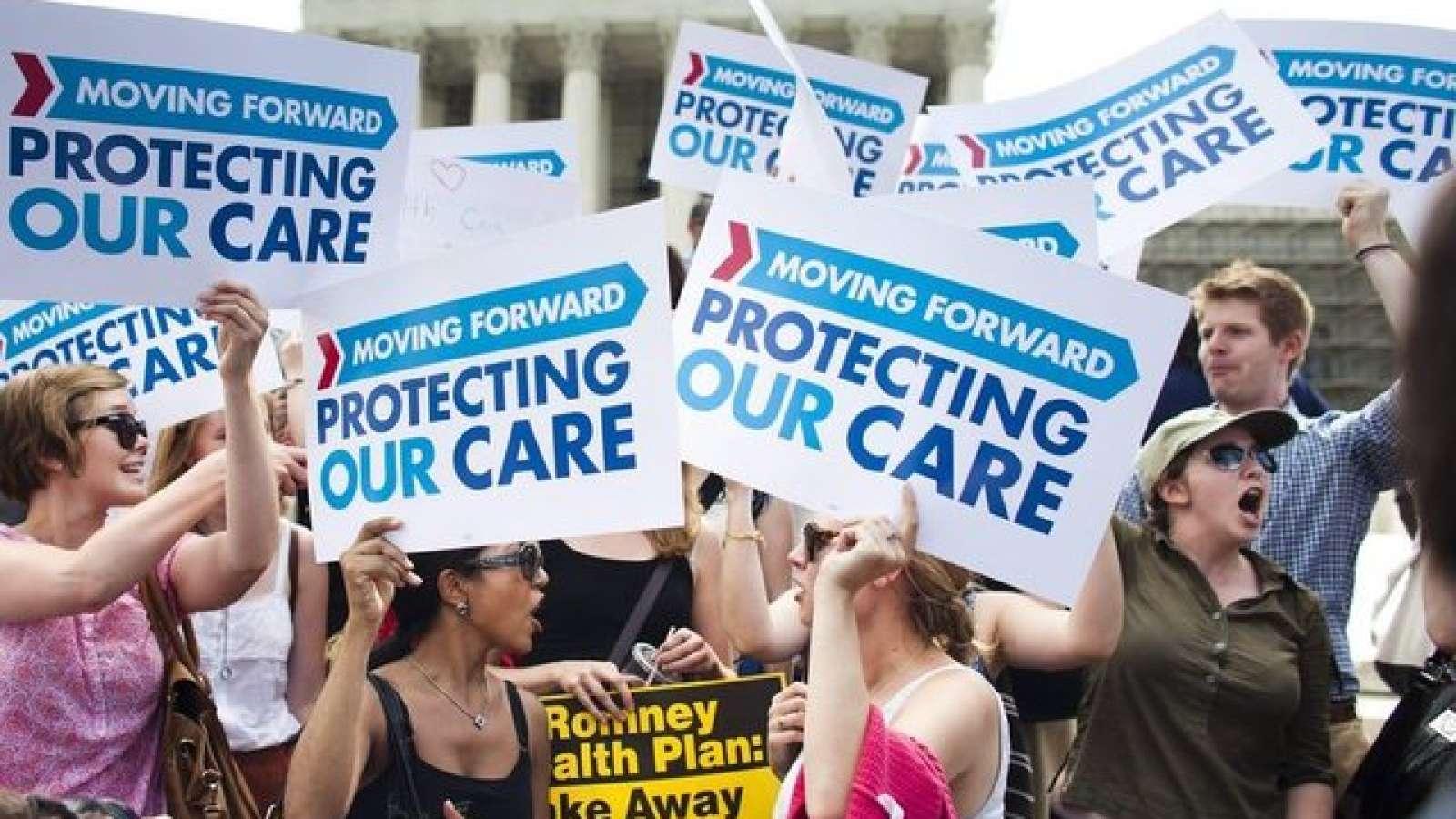 Tausende Amerikaner gingen auf die Strasse, um gegen die Abschaffung von «Obamacare» zu demonstrieren.