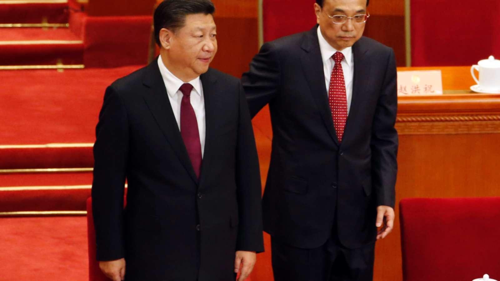 Kampf der Staatsverschuldung: Chinas Präsident Xi Jinping (links) und Premier Li Keqiang bei der Eröffnung des jährlichen Volkskongresses in Peking.