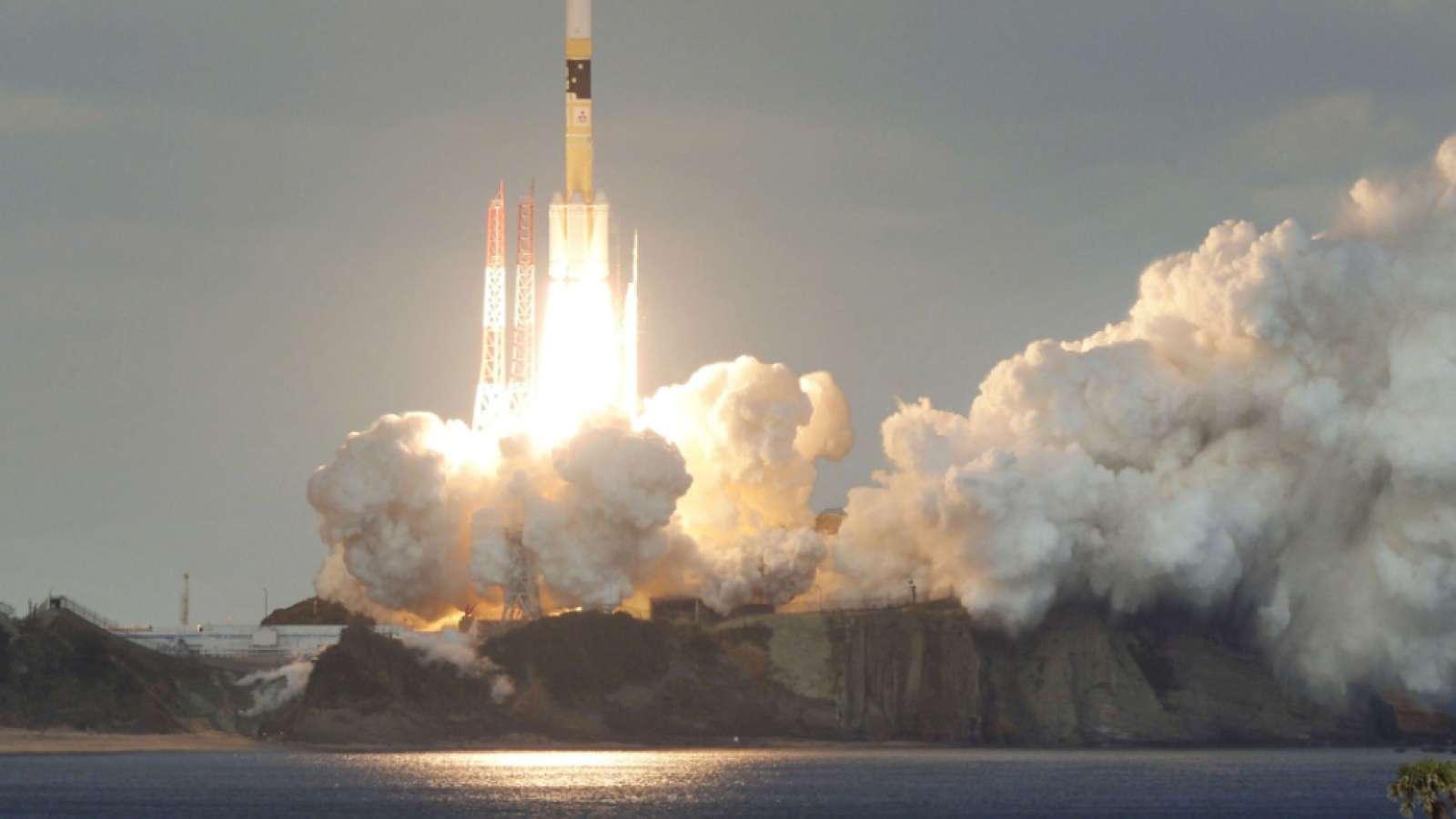 Start einer japanischen H-2A-Trägerrakete im vergangenen Januar (Archivbild)
