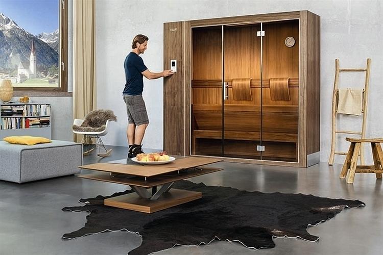 klafs s1 diese ausfahrbare sauna passt in jedes zimmer. Black Bedroom Furniture Sets. Home Design Ideas