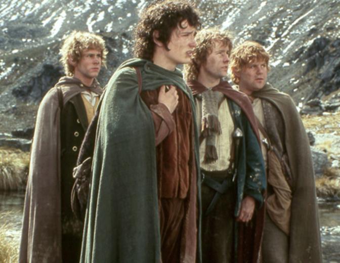 Der Herr der Ringe Hobbits Frodo Sam Merry Pippin