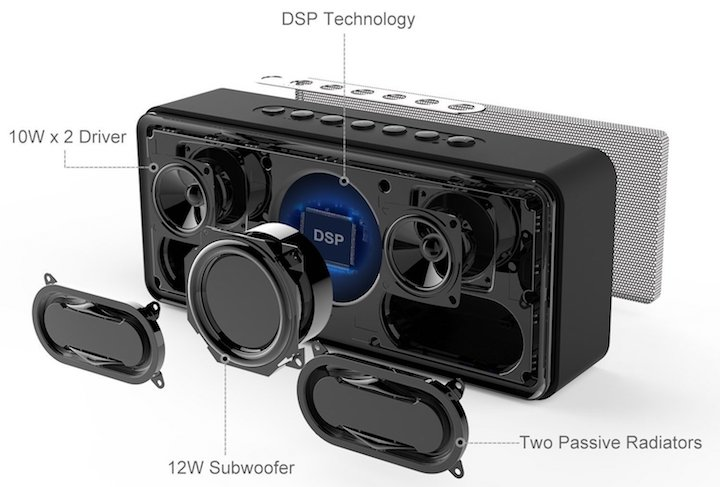 doss bluetooth speaker soundbox xl